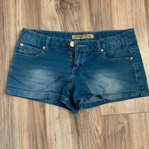 Celebrity pink original denim jean shorts